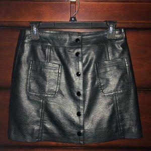 Fake leather bodycon skirt